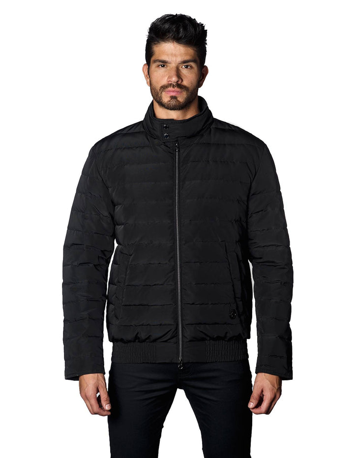 Black Moto Down Quilted Jacket Chicago 2A - Jared Lang