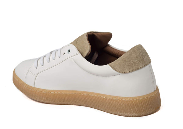 White Beige Sneakers for Men - Left 2829-MW - Jared Lang