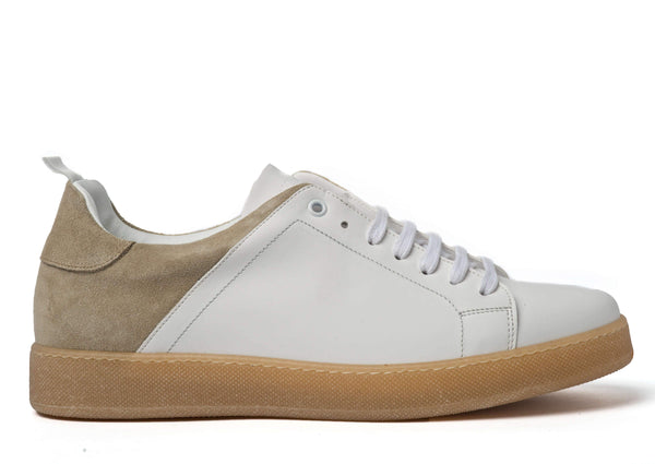 White Beige Sneakers for Men - Right 3839-WB - Jared Lang