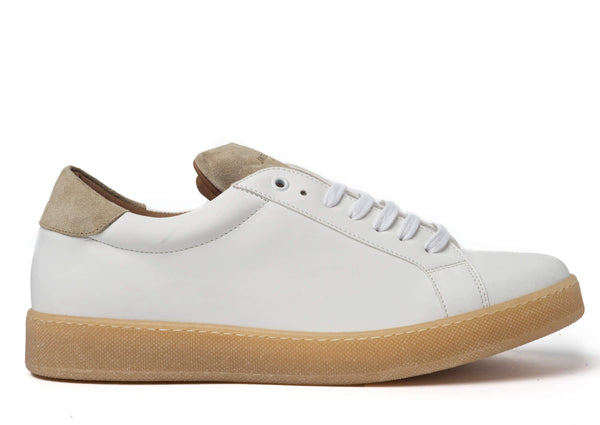 White Beige Sneakers for Men - Right 2829-MW - Jared Lang