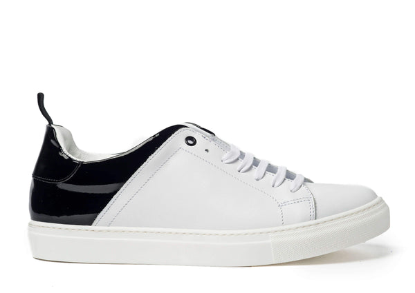 White Black Sneakers for Men - Right 3838-WHB - Jared Lang