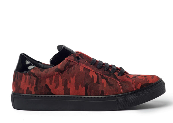 Red Camouflage Sneakers for Men 2828-RC - Jared Lang
