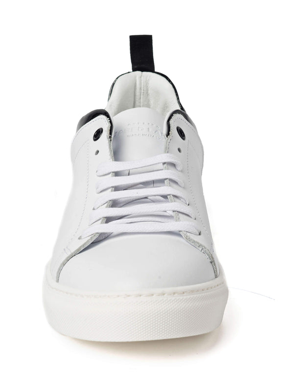 White Black Sneakers for Men - front 3838-WHB - Jared Lang