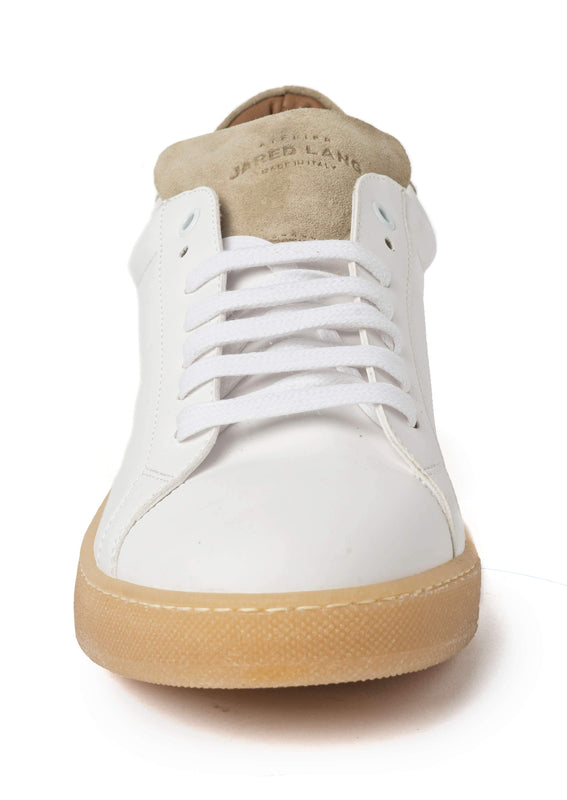 White Beige Sneakers for Men - Front 2829-MW - Jared Lang