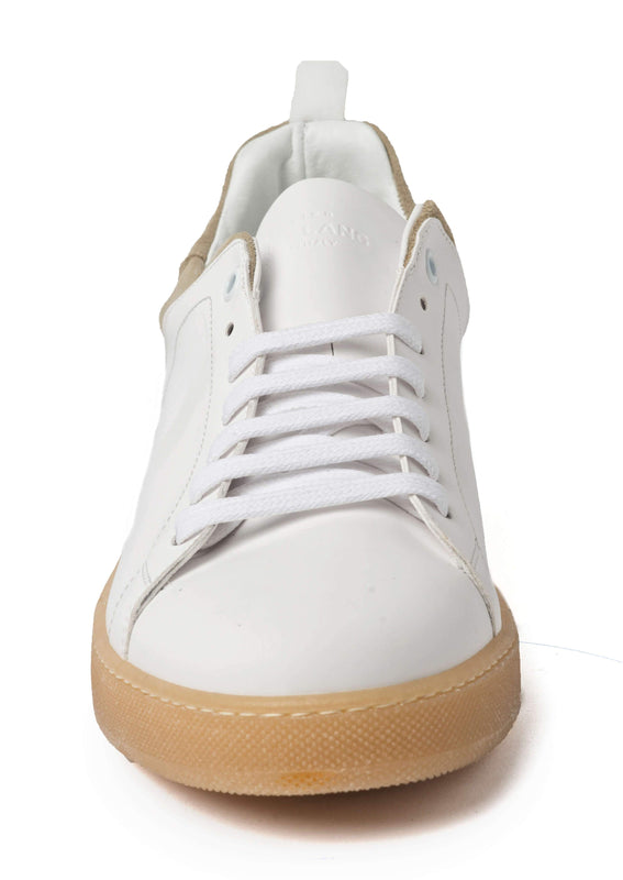 White Beige Sneakers for Men - Front 3839-WB - Jared Lang