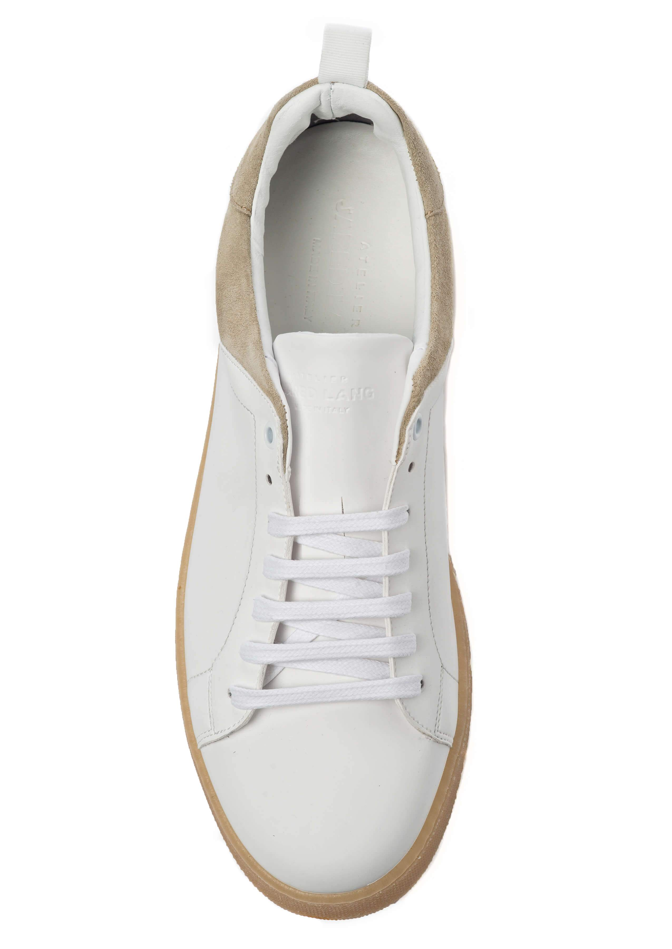 White Beige Sneakers for Men - Top 3839-WB - Jared Lang