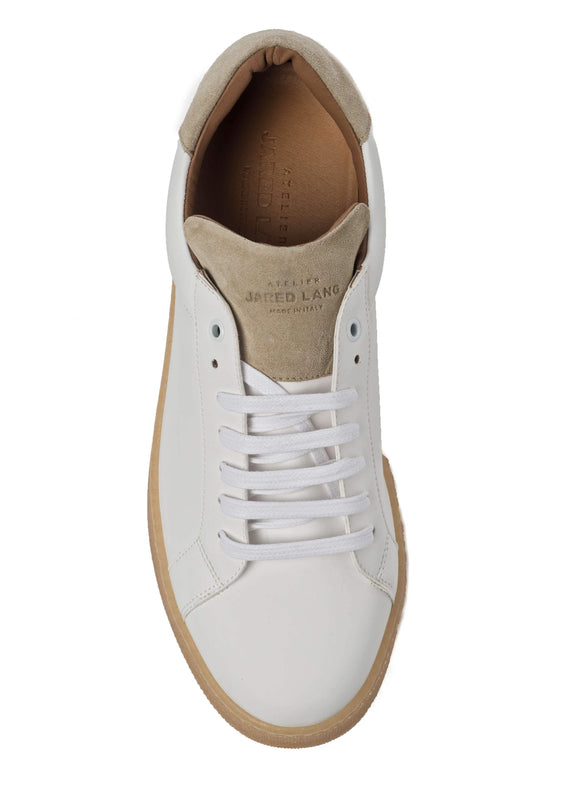White Beige Sneakers for Men - Top 2829-MW - Jared Lang