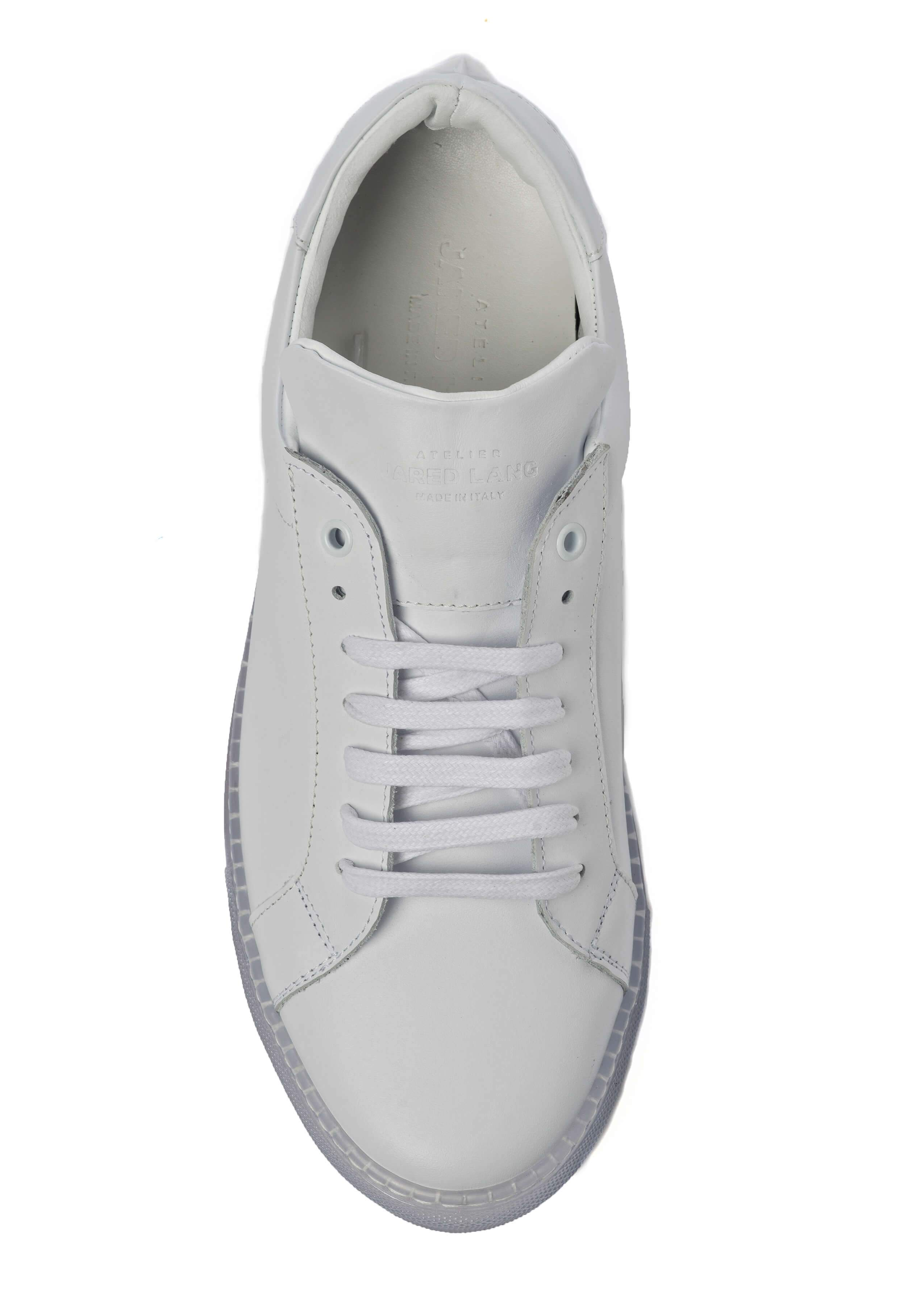 White Clear Sole Sneakers for Men - Top 1818-CRW - Jared Lang