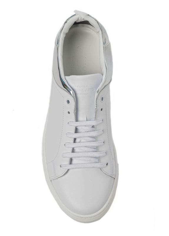 White Reflective Sneakers for Men 3838-WR - Top - Jared Lang