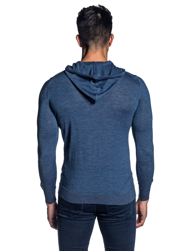 Blue Hoodie for Men H-02681-04 - Back - Jared Lang