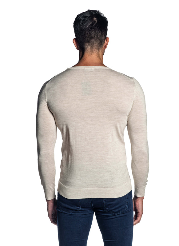 Off-White Crew Neck Sweater for Men H-02682-05 - Back - Jared Lang