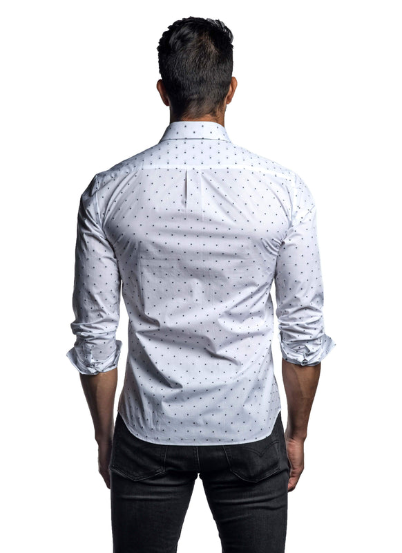 White Black Star Shirt for Men ITA-T-8112 - Back - Jared Lang
