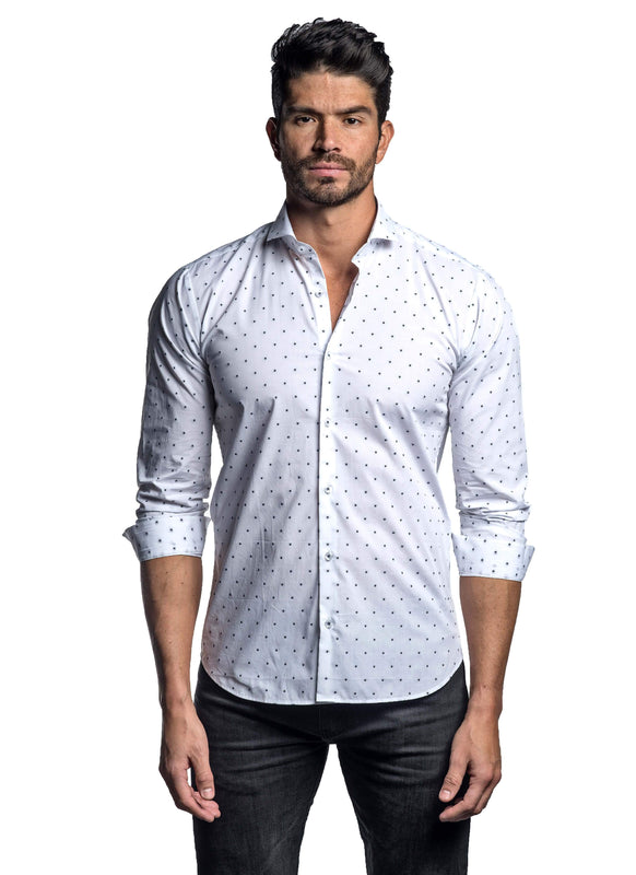 White Black Star Shirt for Men ITA-T-8112 - Front - Jared Lang