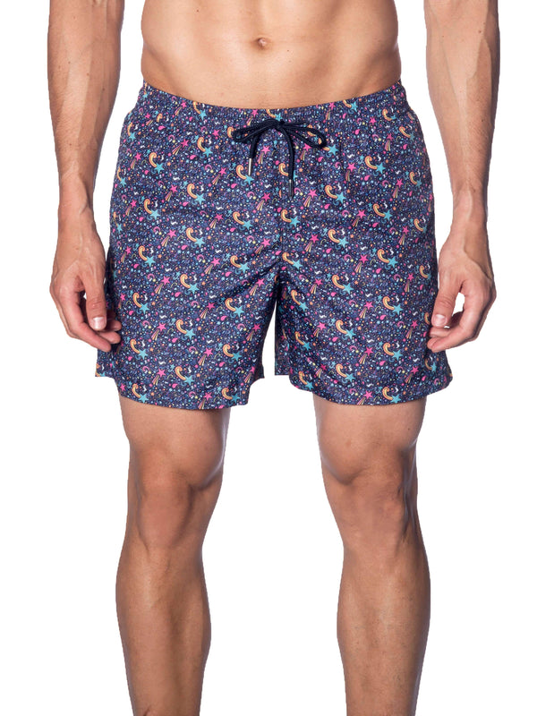 Navy Purple Swimwear for Men J19-020 - Front - Jared Lang