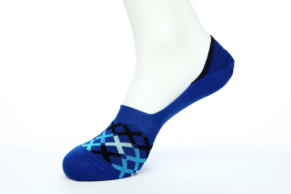 Navy Blue No Show Socks for Men JL-10028-3 - Jared Lang