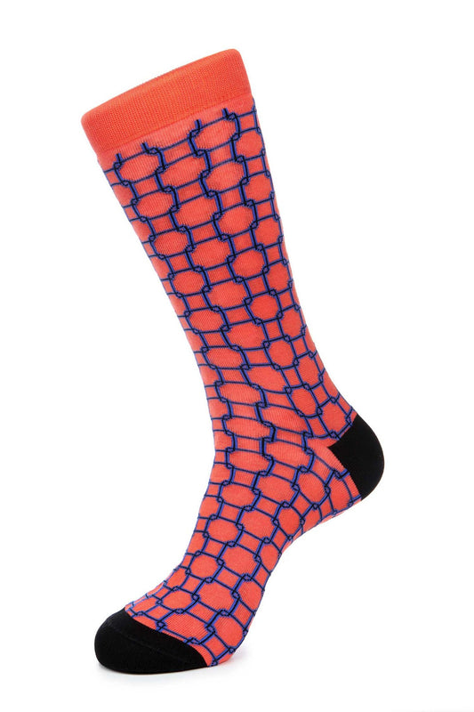 Orange Mercerized Socks for Men JL-9021-3 - Jared Lang