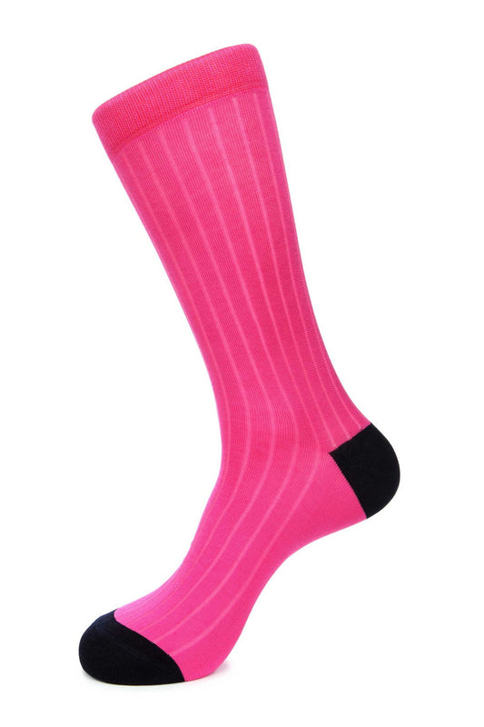 Pink Mercerized Socks for Men JL-9053-2 - Jared Lang