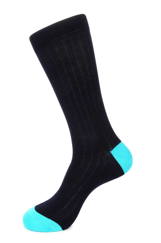 Navy Mercerized Socks for Men JL-9053-3 - Jared Lang