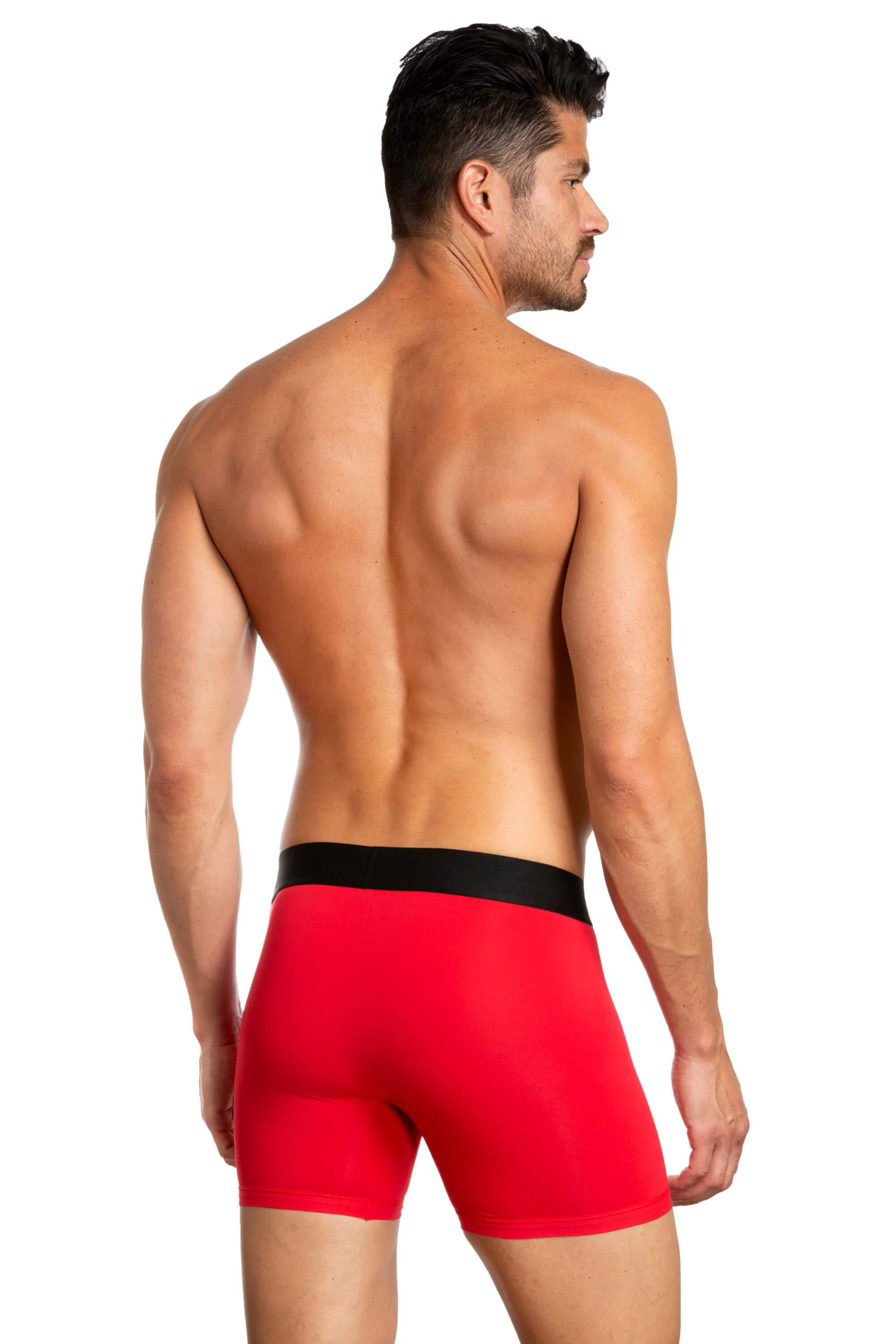 Pack of 3 Boxer Briefs for Men JLBX1-237 - Red and black back - Jared Lang