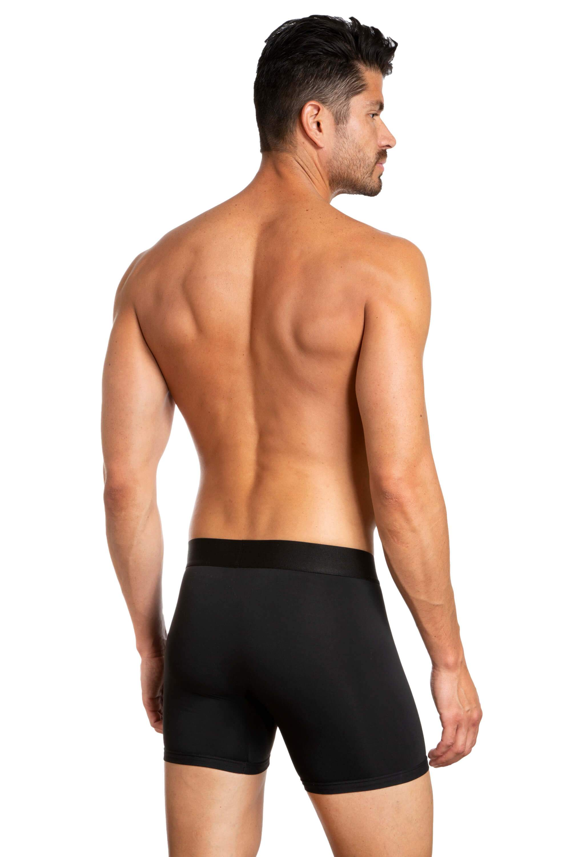 Pack of 3 Boxer Briefs for Men JLBX1-237 - Black and red back - Jared Lang
