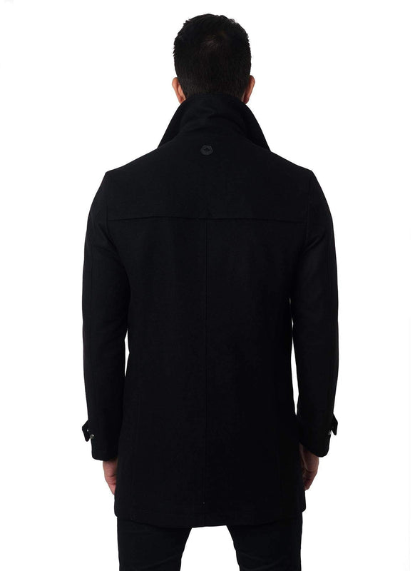 Wool Black Jacket Los Angeles 2A - Back - Jared Lang
