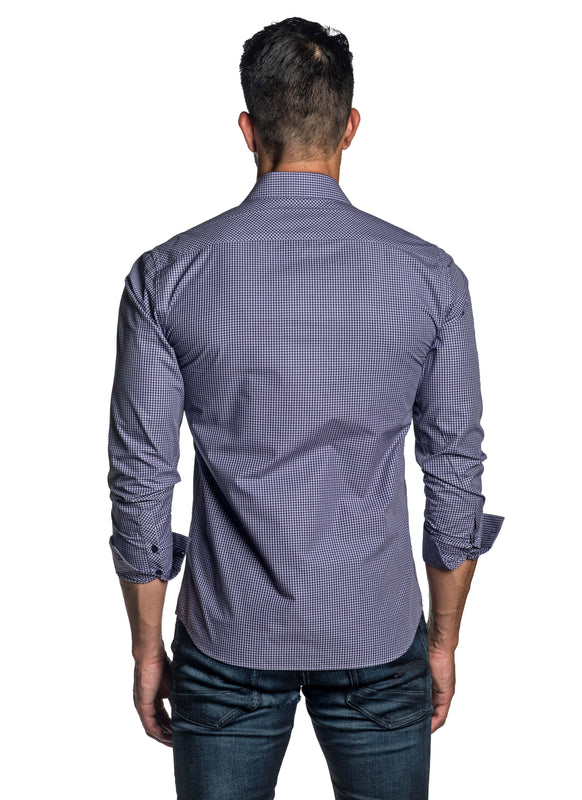 Purple Check Shirt for Men OT-2653 - Back - Jared Lang
