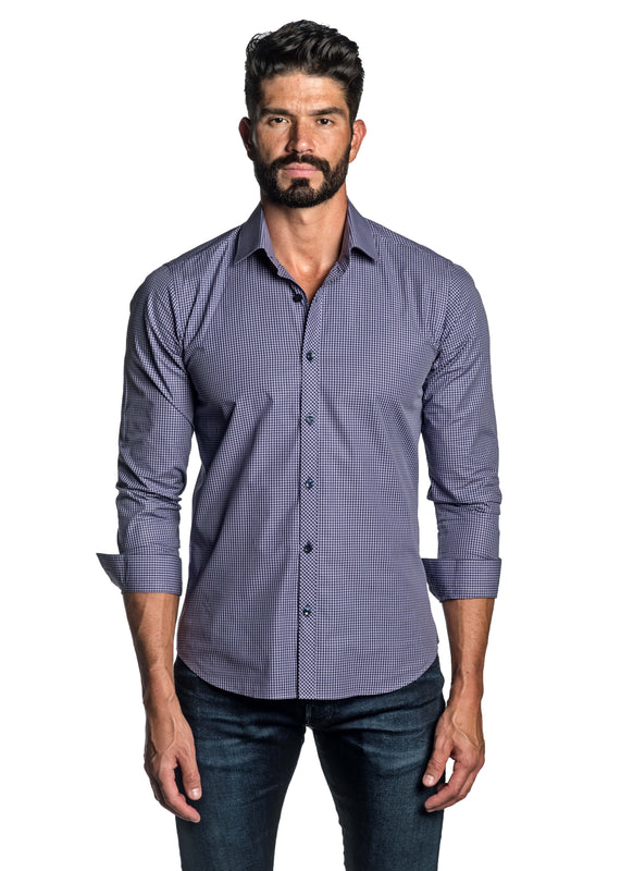 Purple Check Shirt for Men OT-2653 - Front - Jared Lang