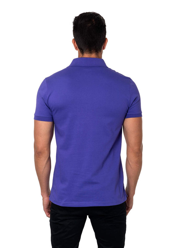 Purple Polo Short Sleeve - Back PS-1017 - Jared Lang