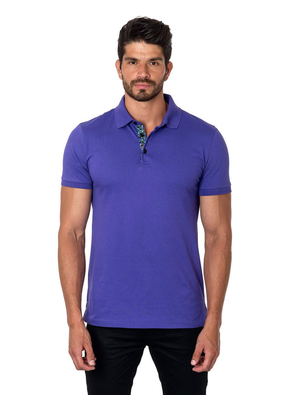 Purple Polo Short Sleeve - Front PS-1017 - Jared Lang