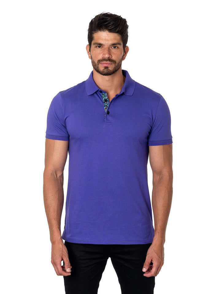 Purple Polo Short Sleeve PS-1017 front