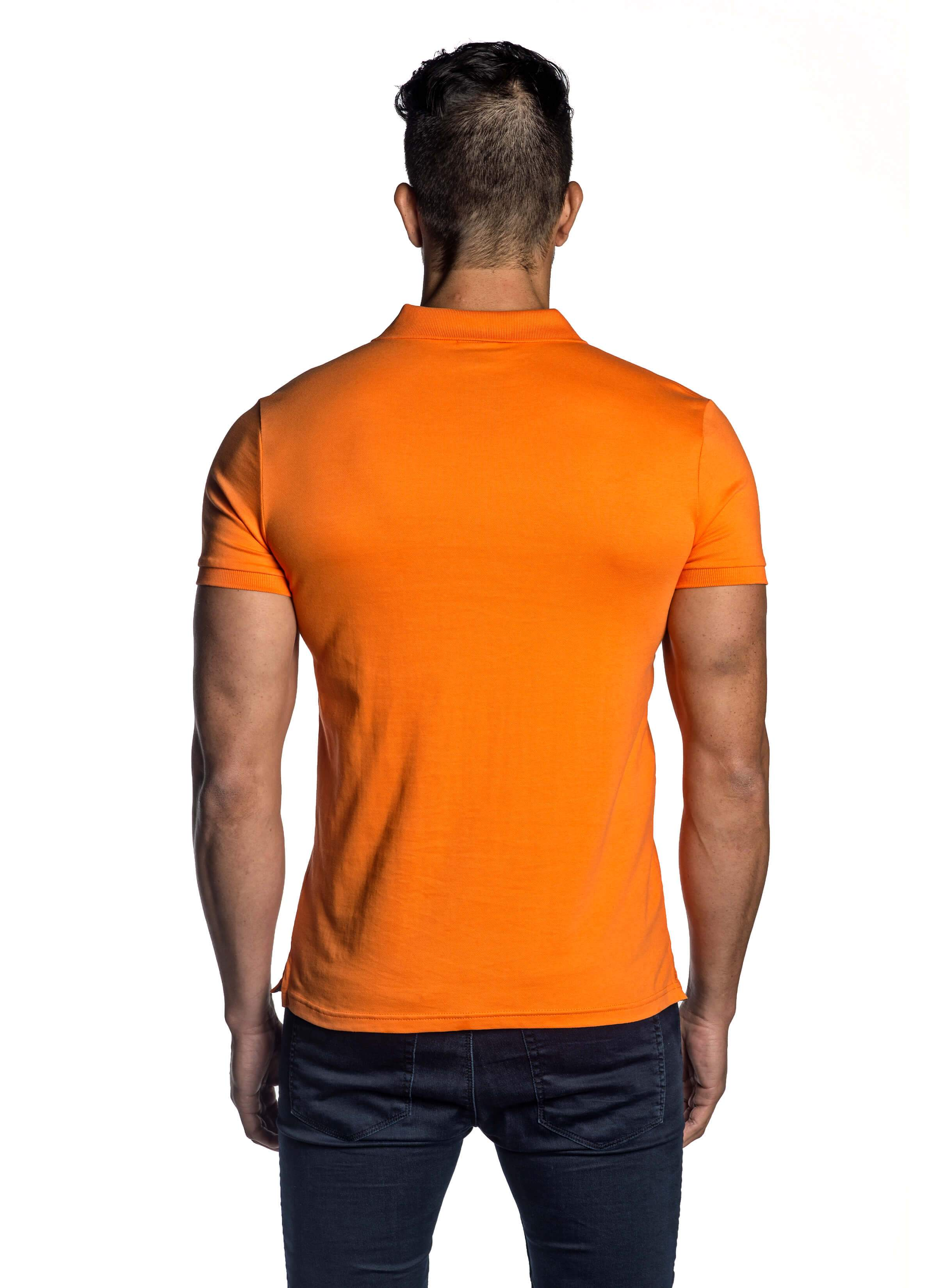 aa454faea9b9 Orange Short Sleeve Polo for Men PS-5010 | Jared Lang Official Website