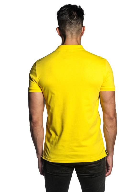 Yellow Short Sleeve Polo for Men - Back PS-600 - Back - Jared Lang