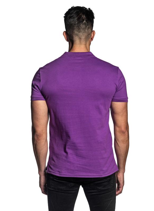Purple Short Sleeve Polo for Men - Back PS-610 - Jared Lang