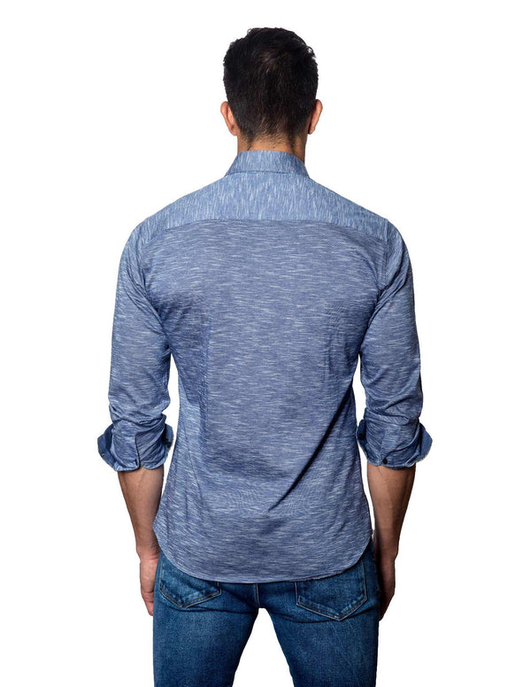 Navy Shirt for Men - Back T-2087 - Jared Lang