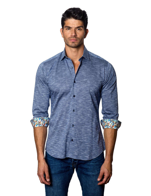 Navy Shirt for Men - Front T-2087 - Jared Lang