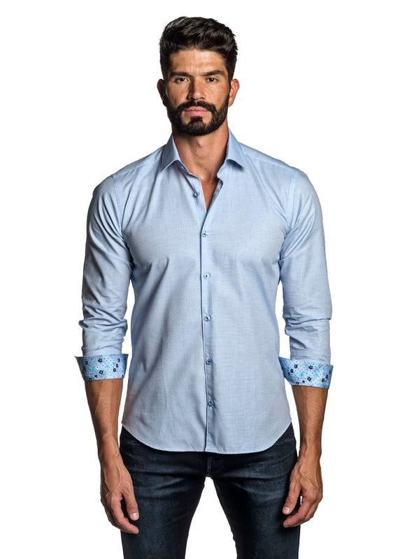 Light Blue  Shirt for Men T-2678 - Front - Jared Lang
