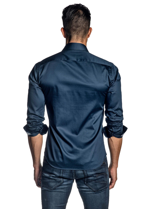 Navy Shirt for Men T-8606 - Back - Jared Lang