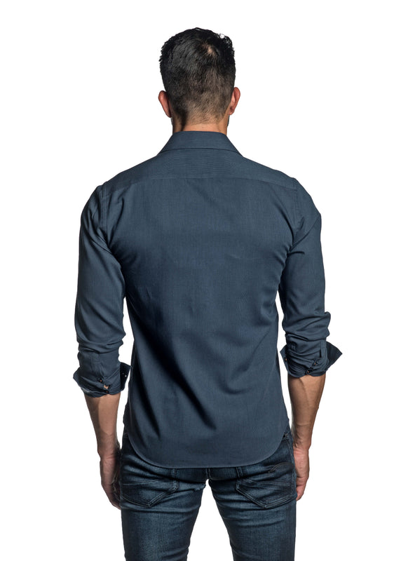 Dark Blue Shirt for Men T-8800 - Back - Jared Lang