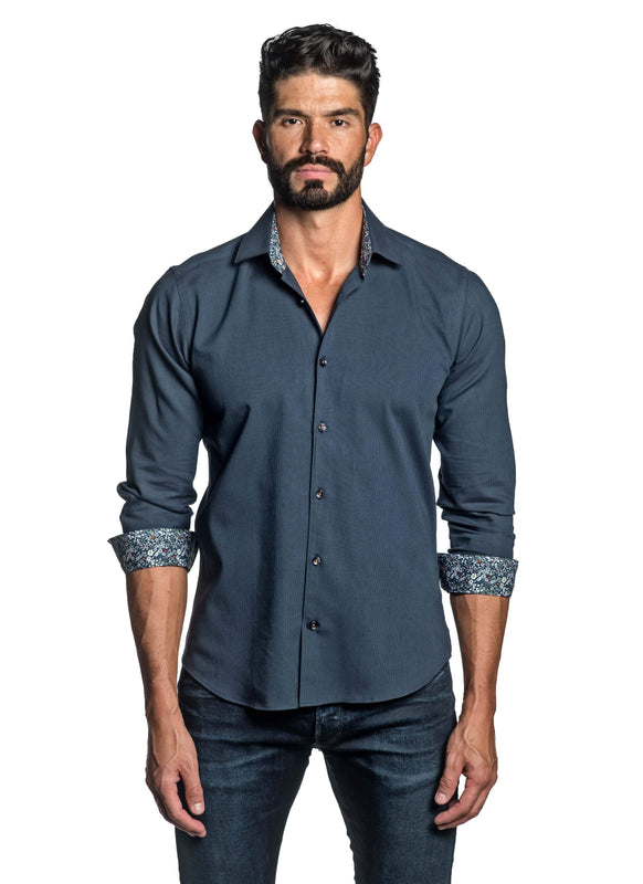 Dark Blue Shirt for Men T-8800 - Front - Jared Lang