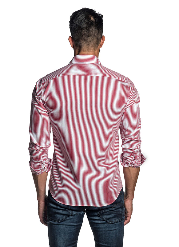 Red Stripe Shirt for Men T-8818 - Back - Jared Lang