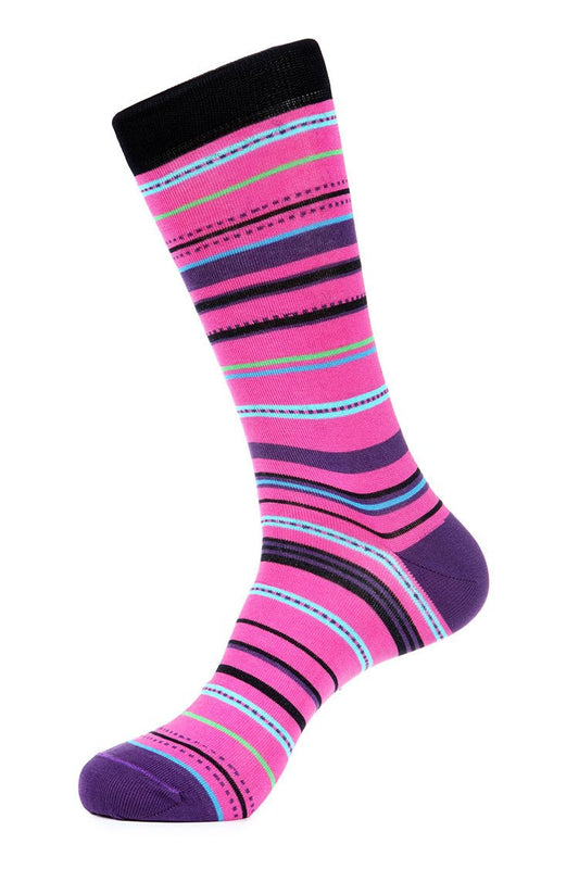 Pink Mercerized Socks for Men JL-7027-2 - Jared Lang