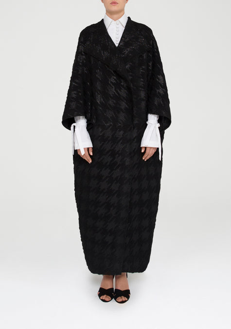 Abaya - Egg Shaped Houndstooth Coat - 11580924948