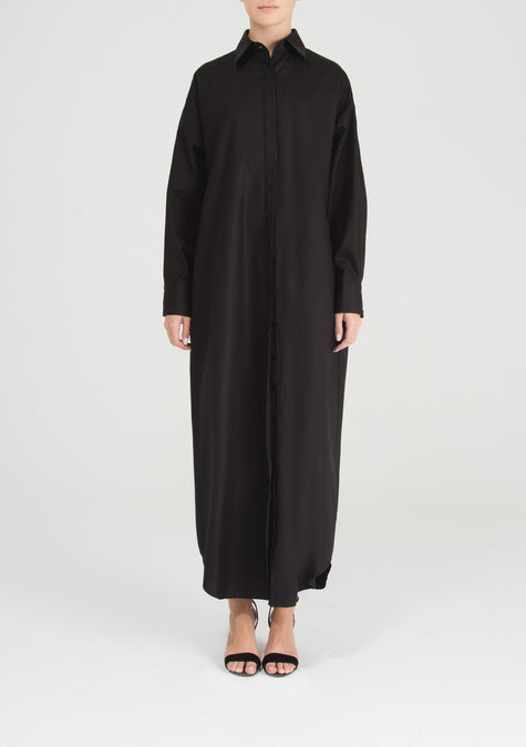 Dress - Signature Oversized Cotton Shirt Dress - 8830782023