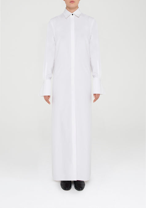 Dress - Long Belted Shirt Dress - 11580943636