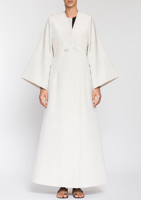 Abaya - Double Breasted Long Jacket - 1999995011141