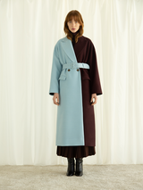 Two Tone Long Coat