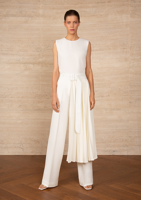 Pants - Long Pleated Belt - 4322681815109