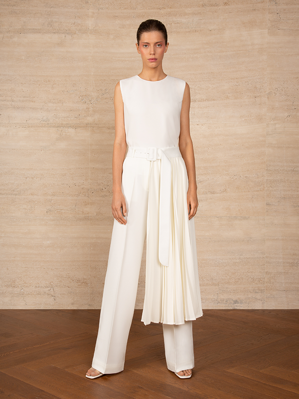 Long Pleated Belt