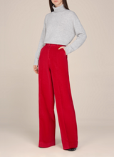 Valentina Corduroy High Waisted Straight Pants