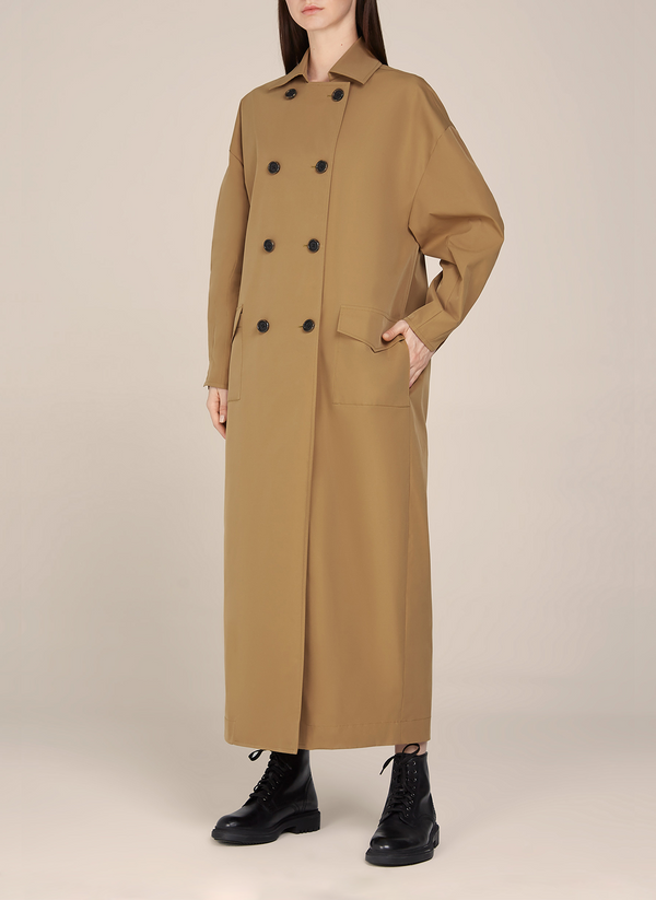 Sarah Buttoned Down Loose Trench